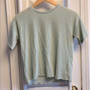 AEO ruffle soft loose fit t shirt